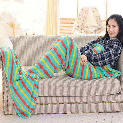Fashion Summer Nap Bowknot Striped Pattern Fish Tail Shape Mermaid Design Blanket