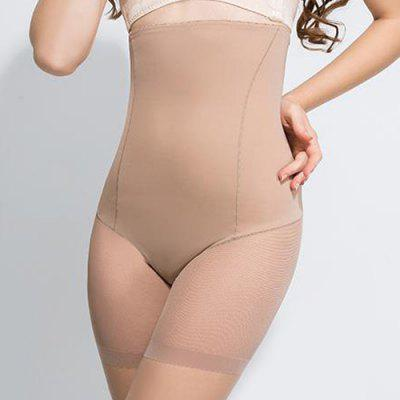 Trendy High-Waisted Voile Spliced Slimming Women's Shaping Boxers