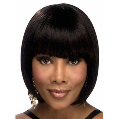 Short Full Bang Synthetic Bob Style Straight Capless Wig