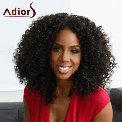 Heat Resistant Synthetic Shaggy Afro Curly Capless Adiors Wig