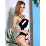 best Casual Style Spaghetti Strap Striped One Piece Swimwear For Women