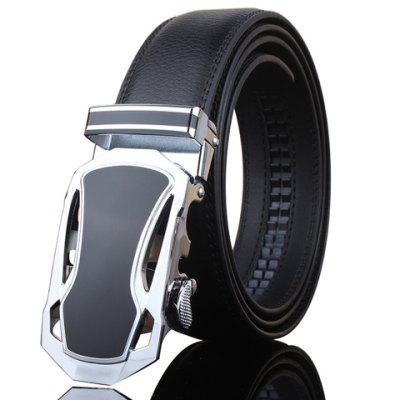 Stylish Hollow Out Sports Car Shape Metal Buckle Wide Belt For Men