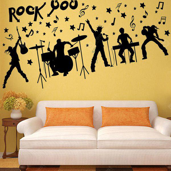 Rock Band Silhouette Musical Wall Art Stickers For Bedrooms - $4.90 ...