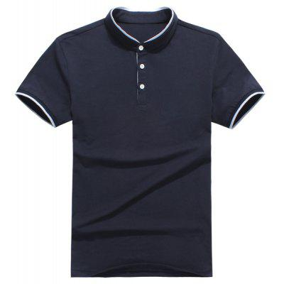 Short Sleeves Half Button Polo T-Shirt For Men