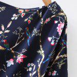 Retro Bat Sleeve Drawstring Floral Print Women's Dress deal