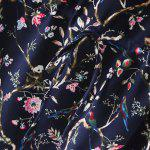 best Retro Bat Sleeve Drawstring Floral Print Women's Dress