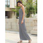 Maxi Stripe Backless Prom Dress deal