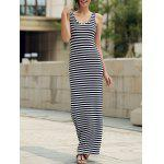 Maxi Stripe Backless Jersey vestido de fiesta - RAYA