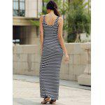 best Maxi Stripe Backless Prom Dress