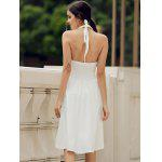 cheap Vintage Halter Solid Color Backless Flare Dress For Women