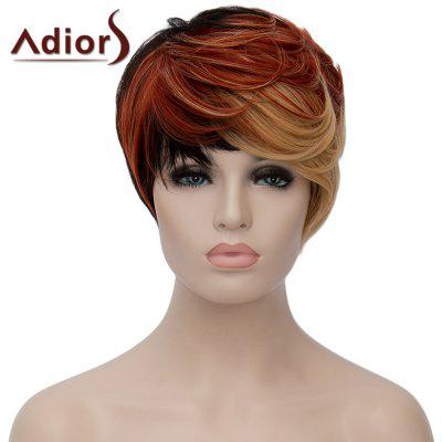 Fashion Multicolor Highlight Short Fluffy Natural Wave Synthetic Women's Adiors Wig