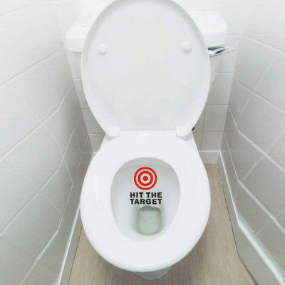 Fashion Red Target Pattern Toilet Sticker For Bathroom Decoration