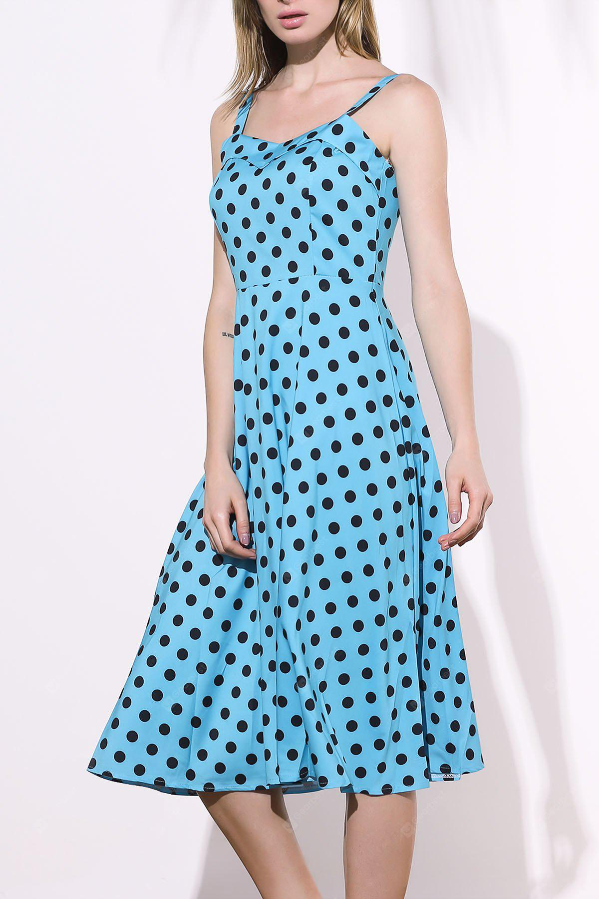 Swing Homecoming Midi Polka Dot Robe