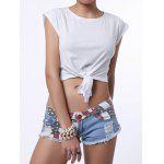 best Low-Waisted Striped Star American Flag Denim Micro Shorts