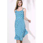 Swing Homecoming Midi Polka Dot Robe - AZUR