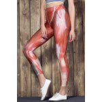 Active High Waist Muscle Printed Bodycon Sport Pants For Women deal