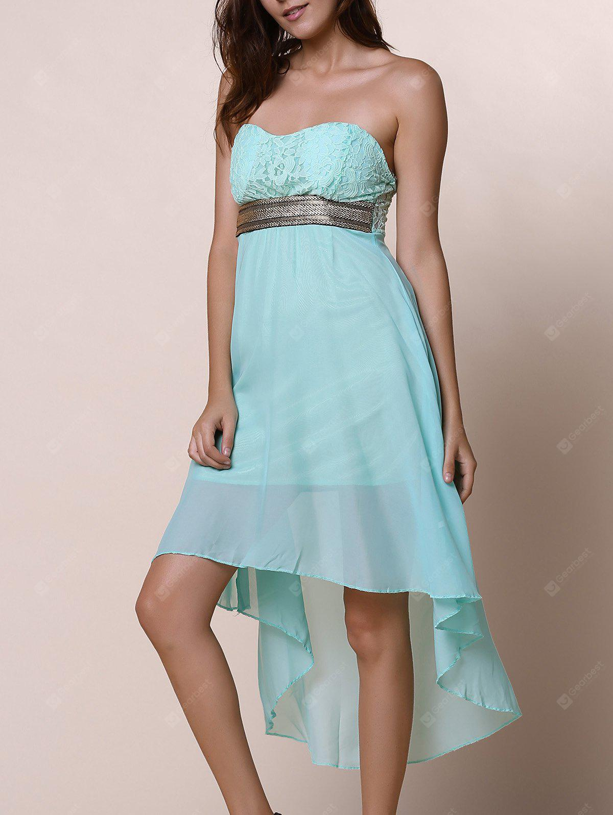 Strapless High Low Maid of Honor Dress