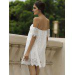 Off Shoulder Lace Short Cocktail Dress deal