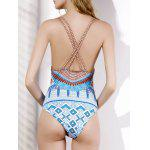 Ethnic Style V-Neck Printed Women's One-Piece Swimwear deal