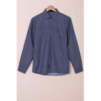 Long Sleeves Checked Single Breasted Shirt For Men