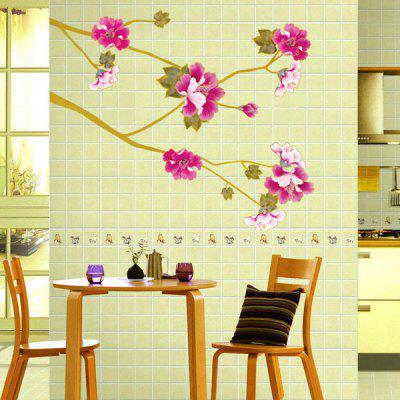 Buy COLORMIX Chic Floral Plants Pattern Wall Sticker For Bedroom Livingroom Decoration for $4.36 in GearBest store