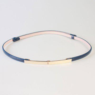 Chic Long Rectangle Buckle PU Slender Belt For Women