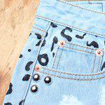 Street Style Hole Design Rivet Embellish Women's Fringed Denim Shorts deal