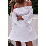 cheap Trendy Off The Shoulder Butterfly Sleeve Back Cut Out Dress For Women