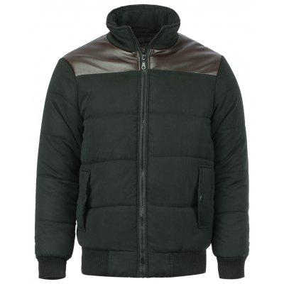 Stand Collar Slimming Winter Jacket