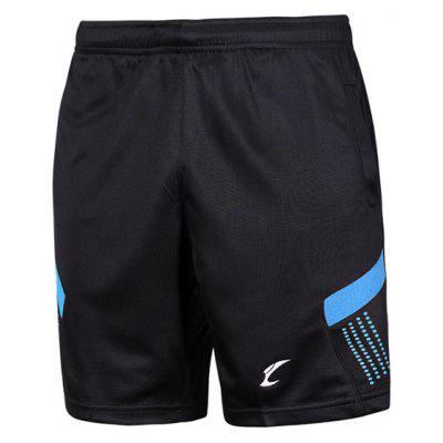 Sports Style Color Block Quick Dry Elastic Waist Shorts