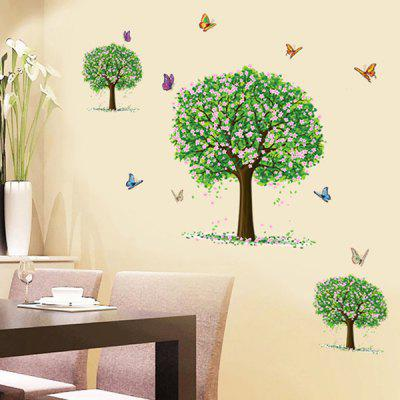Buy Three Trees Pattern Wall Sticker For Bedroom Livingroom Decoration COLORMIX for $5.03 in GearBest store
