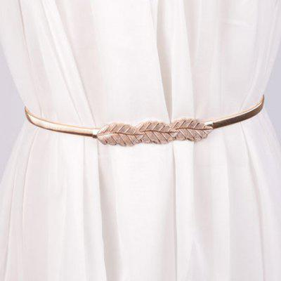 Chic Leaf Shape Buckle Alloy Elastic Waist Belt For Women