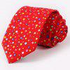 One Set Stylish Multicolor Polka Dots Pattern Tie and Handkerchief For Men - RED
