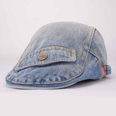 Trendy Faux Pocket Design Denim Cabbie Hat For Women