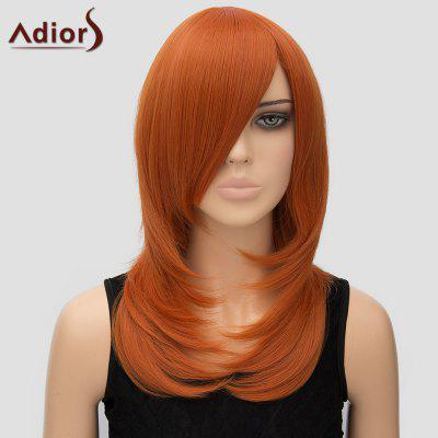 Women's Stylish Adiors Long Layered Side Bang High Temperature Fiber Cosplay Wig
