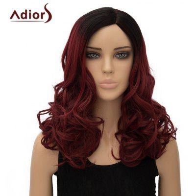 Buy OMBRE 1211# Vogue Black Ombre Wine Red Long Fluffy Wave Side Parting Synthetic Adiors Wig For Women for $19.47 in GearBest store