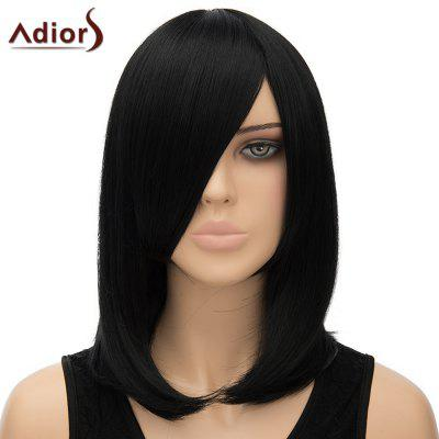 Women's Nobby Adiors Straight Inclined Bang High Temperature Fiber Cosplay Wig