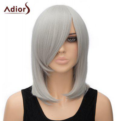 Women's Stylish Adiors Straight Inclined Bang High Temperature Fiber Cosplay Wig