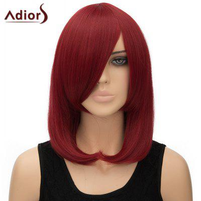 Trendy Inclined Bang Straight High Temperature Fiber Adiors Women's Cosplay Wig