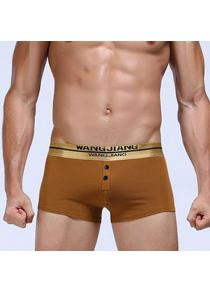 1b11f84fb Golden Button Embellished U Pouch Design Boxer Breve para homens