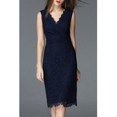 Sheath Lace Wedding Party Dress