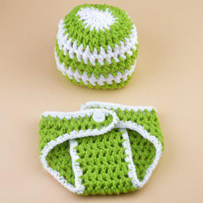 Set of Color Matching Knitting Props Clothes Hat For Baby's Photography