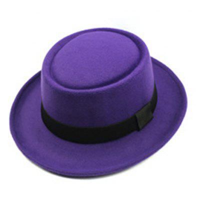 Chic Black Bow Embellished Various Colors Flat Top Felt Jazz Hat For Women