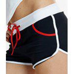 best Active Style Elastic Waist Patchwork Sport Shorts For Women
