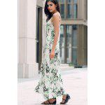 Elegant Printed Front Slit Women's Maxi Strap Dress deal