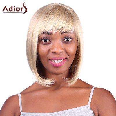 Buy GOLDEN BROWN WITH BLONDE Fashion Short Straight Capless Bob Style Blonde Mixed Synthetic Adiors Wig For Women for $14.88 in GearBest store