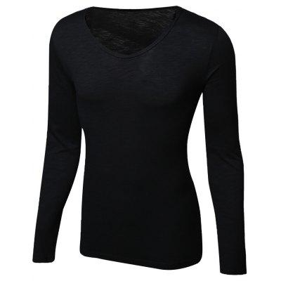 Casual Pullover Solid Color Long Sleeves Men's T-Shirt