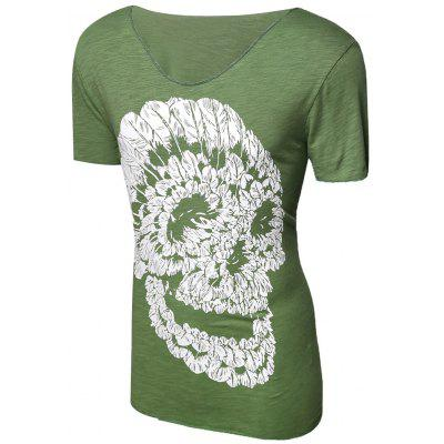 Casual Pullover Skull Printed T Shirt For Men 180438001