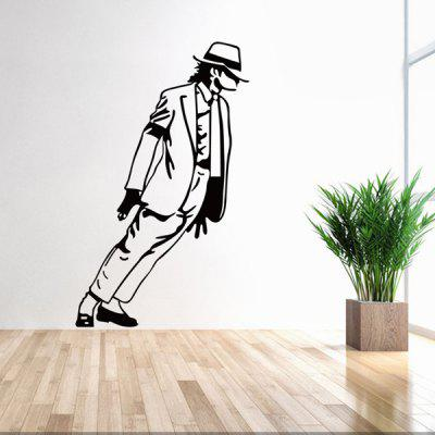 Fashion Michael Jackson Pattern Wall Sticker For Bedroom Livingroom Decoration fashion letters and zebra pattern removeable wall stickers for bedroom decor