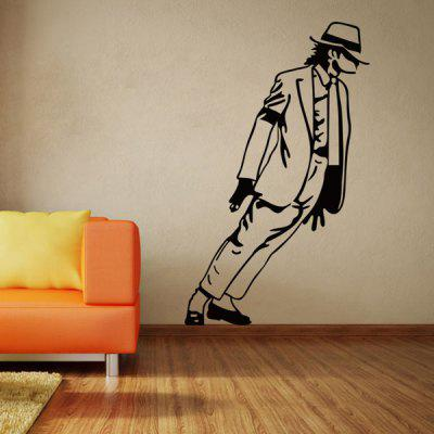 Buy Fashion Michael Jackson Pattern Wall Sticker For Bedroom Livingroom Decoration BLACK for $4.51 in GearBest store